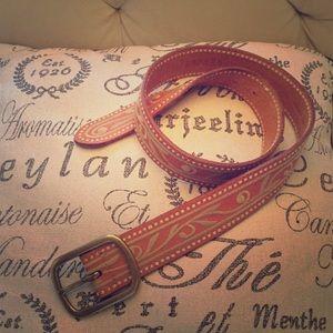 Ralph Lauren leather embroidered belt
